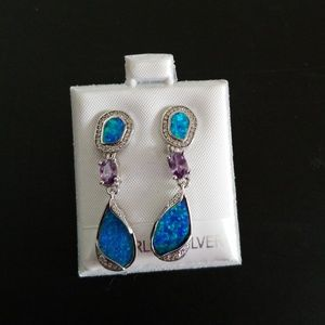 Sterling Silver Faux Turquoise Earrings